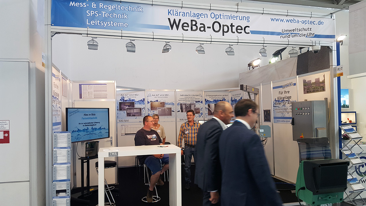 WEBA-OPTEC: IFAT - 14. - 18. Mai 2018 - Messe München - Hallo C1, Stand 114 (Bild 02)